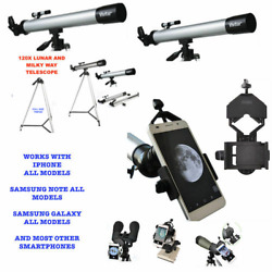 150X TELESCOPE FULL 57quot; TRIPOD LUNAR AND FOR STAR OBSERVATION SMARTPHONE MOUNT $132.92