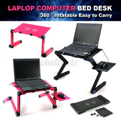 Foldable Laptop Desk Table Fans Stand Desk Office Bed Sofa Tray With Mouse Pad $24.99
