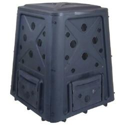 Outdoor Compost Bin 65 Gallon Garden Backyard Kitchen Food Waste Composter Black $57.19