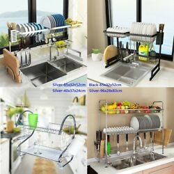 Stainless Steel Over Sink Dish Drying Rack Drainer Kitchen Cutlery Holder Shelf $71.99