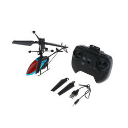 Mini Helicopter RC Drone Flash Light Toy Outdoor Airplane Kids Toys Blue $16.65