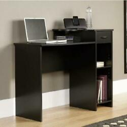 DESK COMPUTER TABLE Student Shelves Drawer Study Work Surface Home Office $98.29