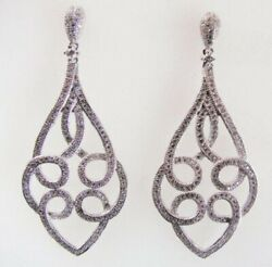 Fantastic Chandeliers Style With Rose Cut White 2.08CT CZ Women Wedding Earring $299.00