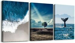 Ocean Canvas Wall Art Beach Canvas Prints for Living Room Landscape Pictures $28.62
