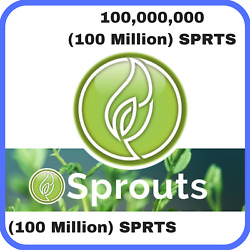 100000000 Sprouts (100 Million SPRTS) CRYPTO MINING-CONTRACT Crypto Currency $8.99