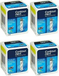 200 Contour Next Test Strips 4 Boxes of 50 Freaky Fast Shipping $65.95