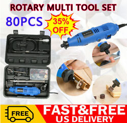 DayplusVariable Rotary Speed Tool Power Electric Kit Corded 135w Mini Drill 80Pc $41.05