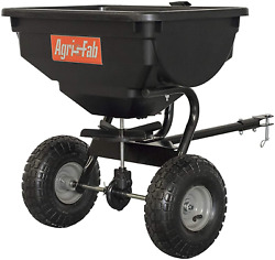 85 Lb Tow Behind Broadcast Spreader Fertilizer Seed Atv Lawn Mower Tractor Pull $95.18