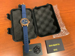 San Martin Bronze Simple Man Water Ghost Dive Watch SW200 Swiss SN040-Q2 Blue $250.00