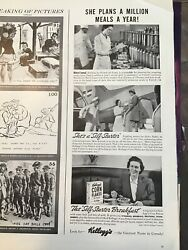 """Vintage Kellogg's Ad """"she Plans A Million Meals A Year!"""" Mildred Inwood"""