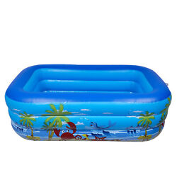 51 inch Inflatable Kiddie Pool with Soft Floor for Indoor or Outdoor 51quot; Blue $30.70