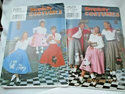 Simplicity Pattern Poodle Skirts Child 7 8 10 12 Adult 18 20 22 Lot of 2 $12.99
