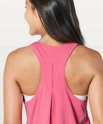 NEW LULULEMON Love Tank *Pleated Glossy Hot Pink Cotton Size 4 NWT $68.00