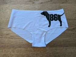 PINK Victoria#x27;s Secret Lilac Dog Logo SMALL No Show Classic Hipster Panty $7.99