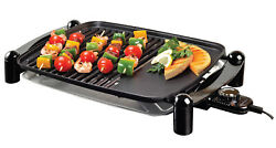 Electric Indoor outdoor Grill Portable Smokeless Non Stick Cooking BBQ Griddle $51.99
