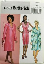 Butterick B4683 Sleeveless Top Straight Skirt amp; Long Jacket Sz 14 20 UNCUT EASY $11.95