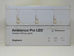 Brightech Ambience Pro White Waterproof LED Outdoor String Lights 48 ft
