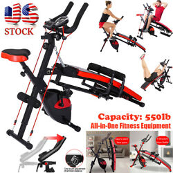 Combination Fitness Machine Indoor Cycling Bike Abdominal Trainers Home Workout $245.95
