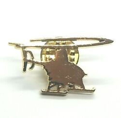 Collectible Lapel Pin Small Helicopter Aircraft Gold Tone Aviation Pin $7.80