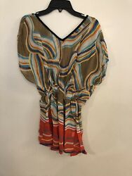 Sheer Beach Cover Up Top One Size $5.00