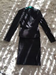 Bebe Black Gray Skirt Suits Jacket in size 4 amp; Skirt in size 0 $59.00
