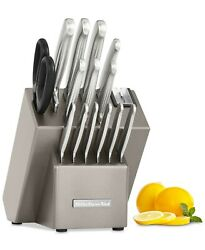 KitchenAid Architect Series 16 Piece Stainless Steel Cutlery Knife Block Set $89.99