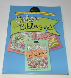 Color The Bible 3 In 1 Adult Coloring Book Christian Bible Scripture amp; Verse $11.99