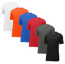 Nike Mens Dri FIT Cotton Poly Tee Shirt Short Sleeve Gym Workout Athletic New $23.95