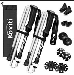 Koviti Trekking Poles Collapsible Hiking Poles 1 Pair $25.99