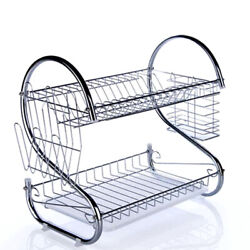 Kitchen Dish Cup Drying Rack Drainer Dryer Tray Cutlery Holder Organizer $20.99