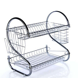 Kitchen Dish Cup Drying Rack Drainer Dryer Tray Cutlery Holder Organizer $18.99