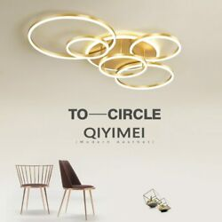 Gold White Coffee Painted Modern LED Chandelier Lighting Living Study Room $250.24