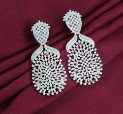 Long Chandelier Women#x27;s Engagement Earrings With 10.44CT Brilliant Round Cut CZ $399.00