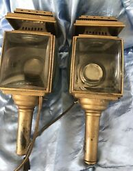 Antique Lanterns Horse Buggy Carriage Electric Wall Sconce Pair of 2 $249.00