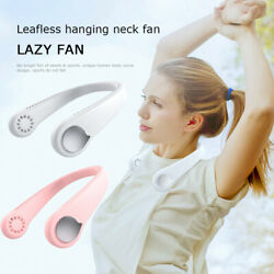 Portable Fan Leafless Hanging Mini Cooling Neckband USB Electric Air Cooler US $27.72