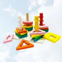 1 Set of Building Block Toy Educational Toy Kids Blocks Wooden Toy for Home Kids $20.57