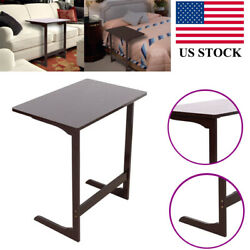 Mobile Laptop Desk Bedside Computers Table Side Study Stand L shaped Bamboo US $54.24