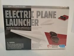 4M Electric Plane Launcher Kit Fun Mechanics Paper Airplanes New Sealed In Box $11.00