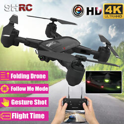 2020 WiFi FPV RC Drones 4K HD Camera Travel Foldable Quadcopter Follow Me Gifts $66.49