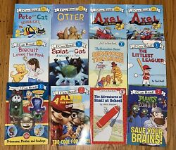 Lot 12 I CAN READ Early Readers My FirstLevel 12 PeteBiscuitSplat CatVeggie $15.00