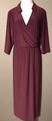 NWT GORGEOUS NY COLLECTION WOMAN MAXI DRESS SIZE 1X DARK PURPLE $24.99
