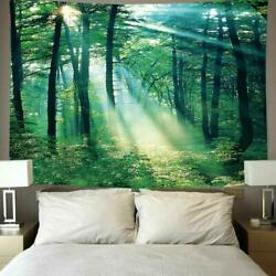 Psychedlic Forest Tree Print Tapestry Wall Hanging Rooms Art Decoration E6T8 C $6.29