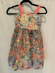 Girls Floral Fancy Party Dress By Halabaloo Size 5 Was $200 Worn 2 Times $30.00