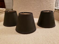 Set Of 3 Black Chandelier Shades 4x5x3 $15.00