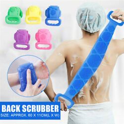 Silicone Back Scrubber Body Cleaning Tools Bath Belt Massage Brush Dual Sided US $6.76