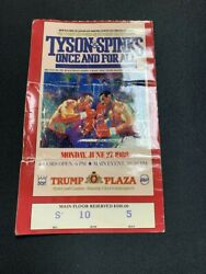 Tyson vs Spinks Once and For All Fight Full Ticket 6 27 1988 $40.00