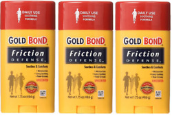 LOT OF 3 Gold Bond Friction Defense Stick 1.75Oz Each $18.99