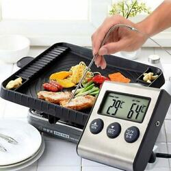 Digital Dispiay Thermometer Kitchen Food Cooking Meat Probe Timer Alarm Clock US $13.36