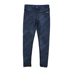 SPALDING Blue Animal Print Stretch Crop Activewear Leggings Womens Size S Small $16.99