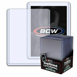 NEW 2 x 25 50 3x4 BCW 2 mm 79 pt. Toploaders Sport Trading Gaming Card $19.99